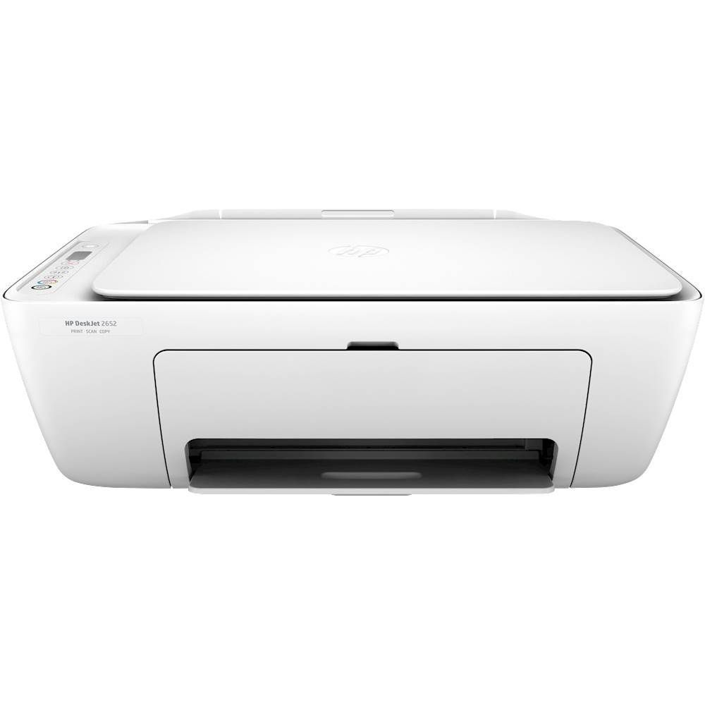 Ink Included White HP DeskJet 2652 All-In-One Printer Certified Refurbished