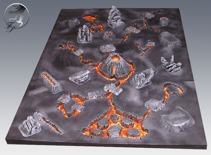 How to make a lava gaming table