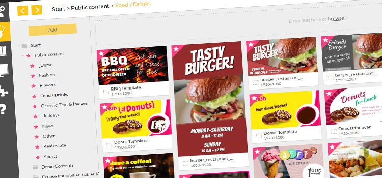 15 Free New Templates for Your Digital Menu Board | Digital menu ...