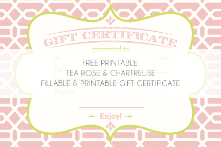 Gorgeous free printable for a Gift Certificate – Cute Gift Certificate Template
