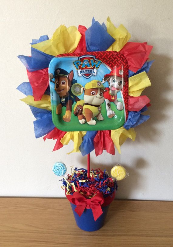 Paw Patrol Centerpiece By Marismanythings On Etsy Paw Patrol Party Paw Patrol Centerpiece Paw Patrol Birthday Party