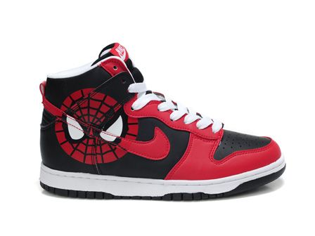 e2ccb9fac12f Nike Dunk High Spiderman Sport Red Black For Sale