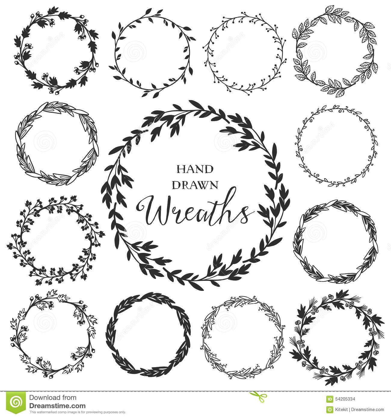 Image result for rustic floral circle black and white