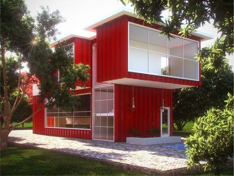 Quand les containers se transforment en maison contemporaine ny usa house and ships for Photo maison contemporaine container