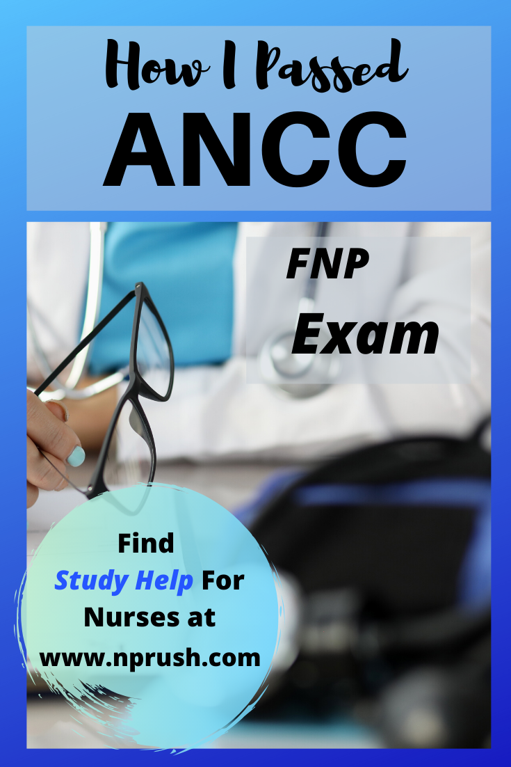 ancc fnp exam passed nurse practitioner boards passing study plan certification pass