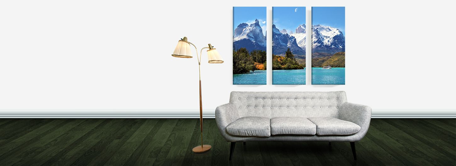 A range of canvas prints at the canvas factory