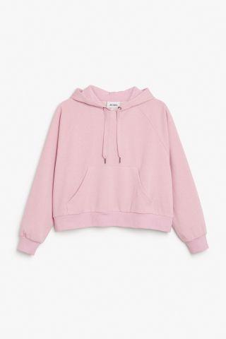 142e26285ca Monki Cropped hoodie in Pink Light | hoodies | Cropped hoodie ...