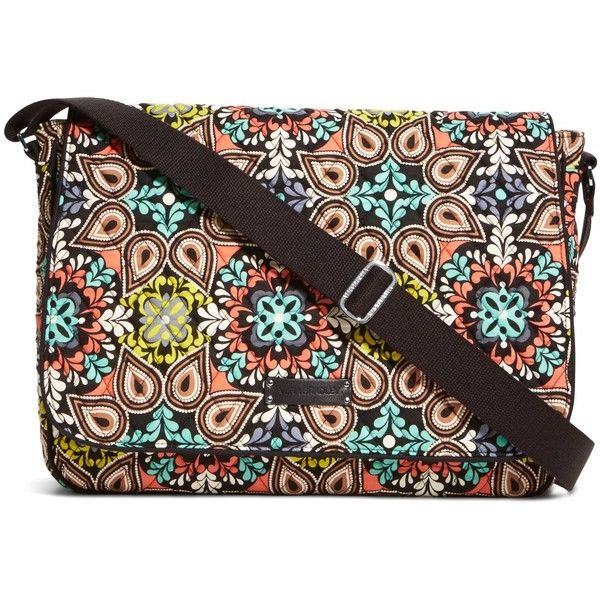 91f4606f3069 Vera Bradley Laptop Messenger Crossbody in Sierra ( 88) ❤ liked on Polyvore  featuring bags