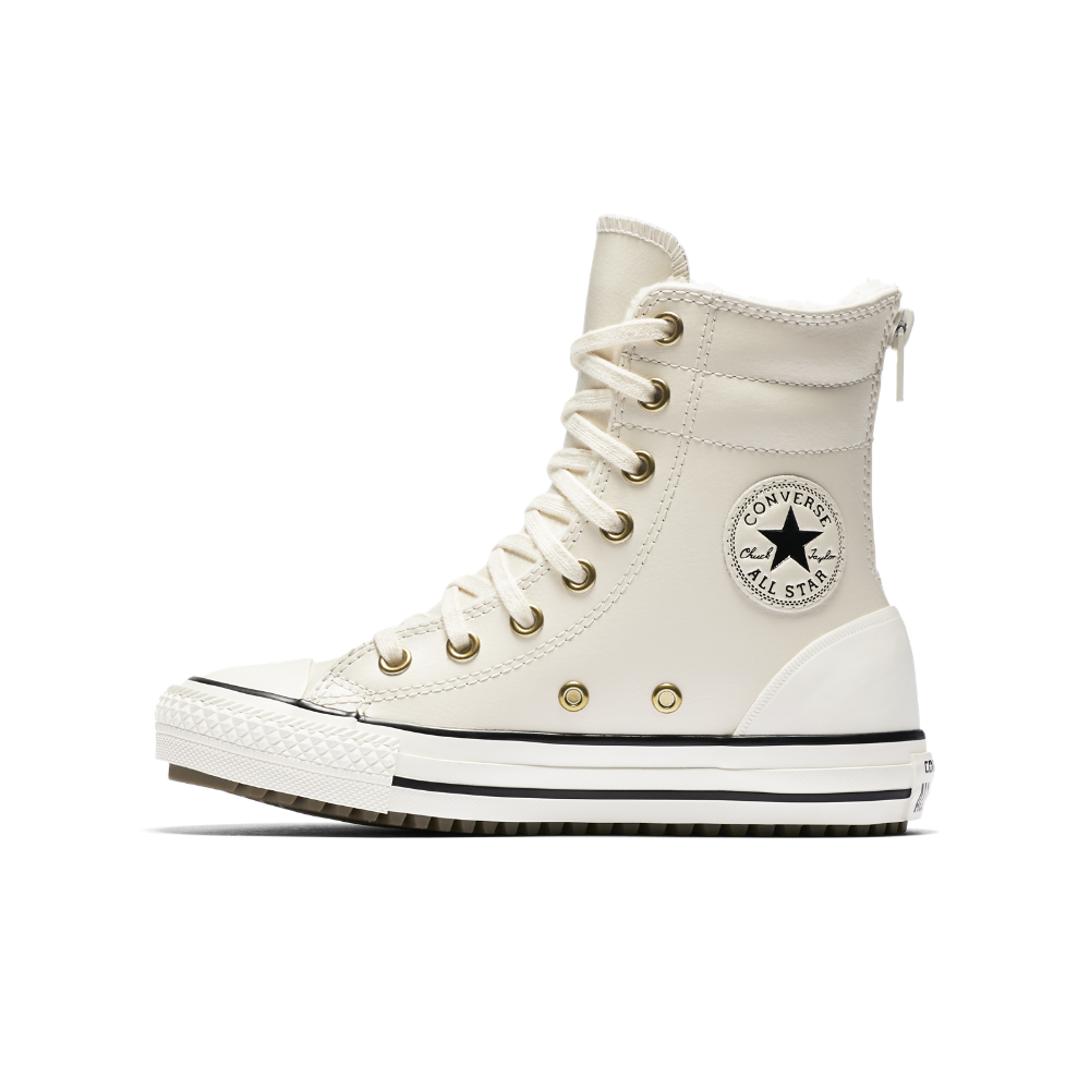 Converse Chuck Taylor All Star Leather And Faux Shearling