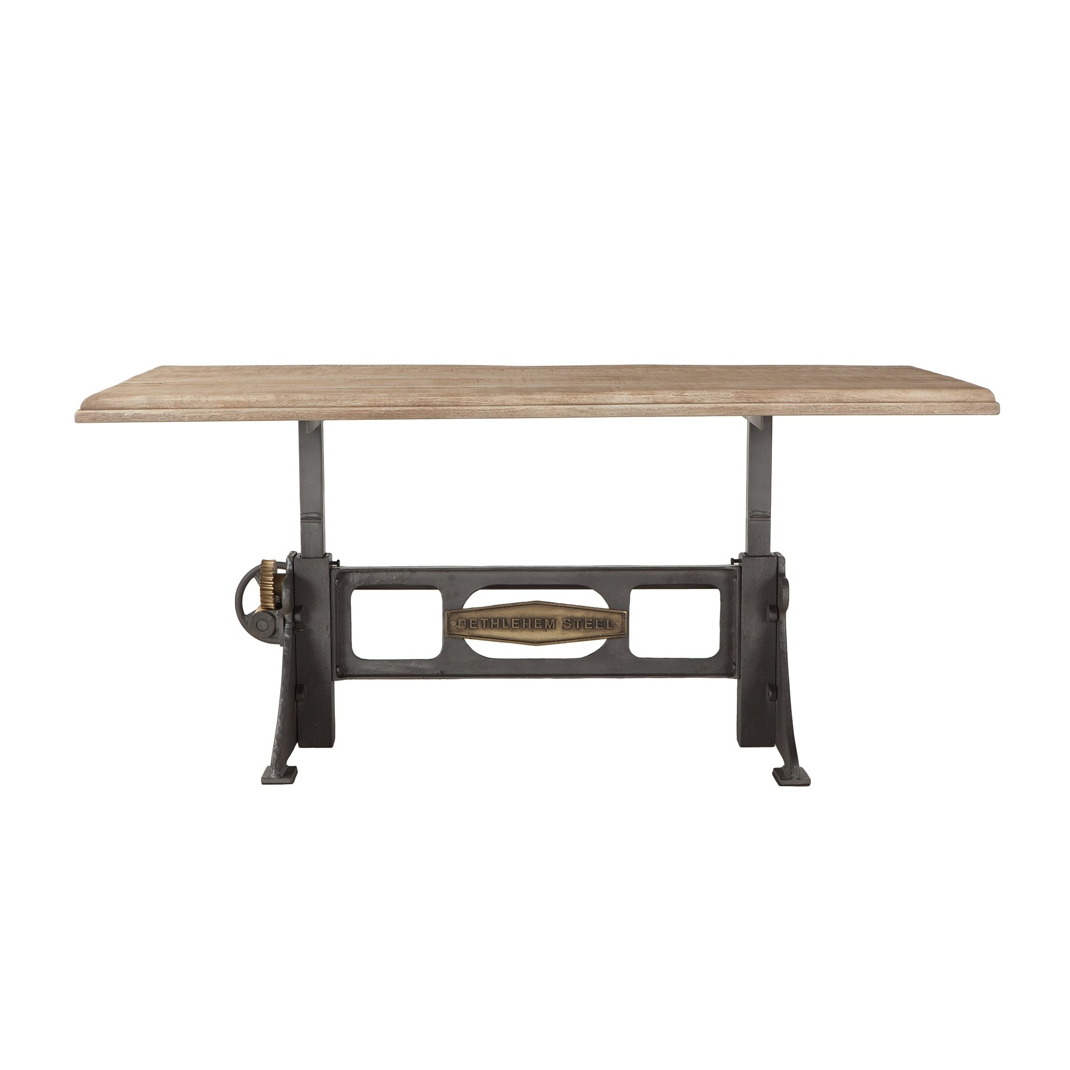 Bethlehem 72 Inch Adjustable Mango Wood Dining Table Oak