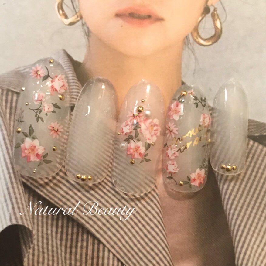 春/パーティー/デート/女子会/フラワー - naturalbeautyのネイルデザイン[No.3981622]|ネイルブック