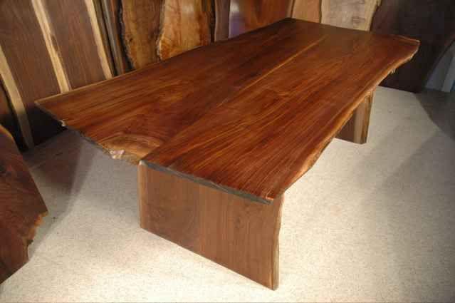 Double Walnut Pedestal Base Dining Table Custom Wood Dining Gorgeous Custom Made Dining Room Tables Design Ideas