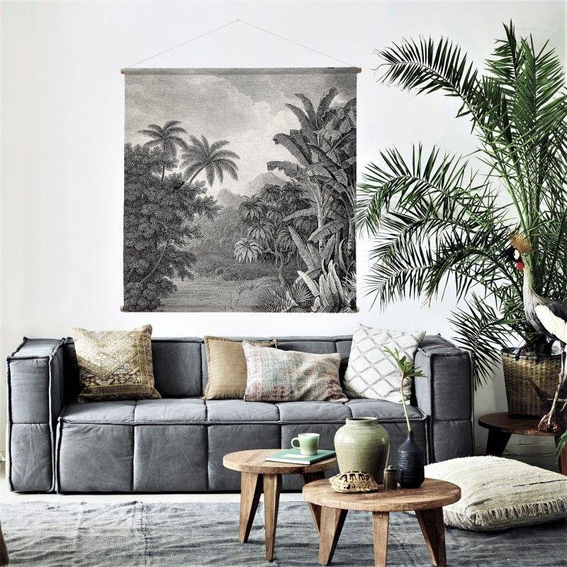 Grande Affiche Decoration Jungle Hk Living 154 X 154 Cm 65 Deco Decoration Jungle Deco Salon