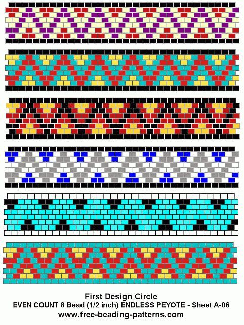 Free Peyote Bead Pattern A 06