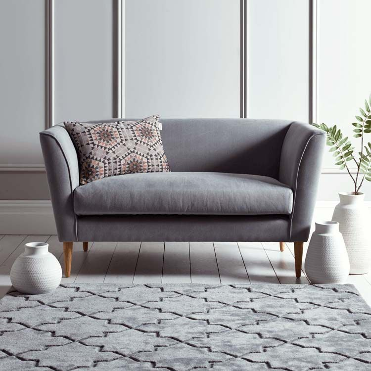 Timsbury Two Seater Sofa In Grey Finddesign Small Sofa Designs Sofas For Small Spaces Small Modern Sofa
