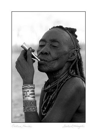 Chillum himba tribal group namibia original photographic art print black and white photography