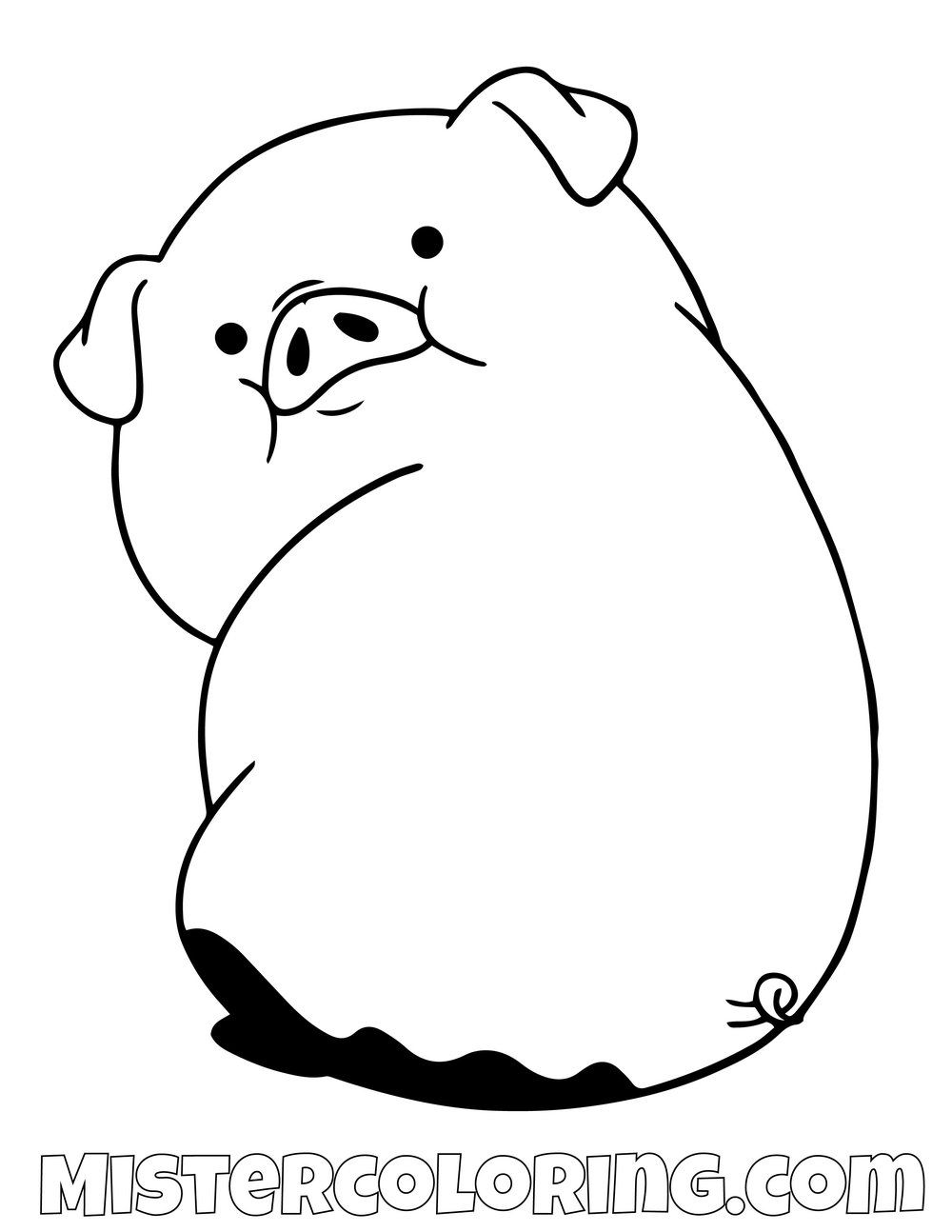 Waddles In Mud Gravity Falls Coloring Pages For Kids Fall Coloring Pages Fall Drawings Cartoon Girl Drawing