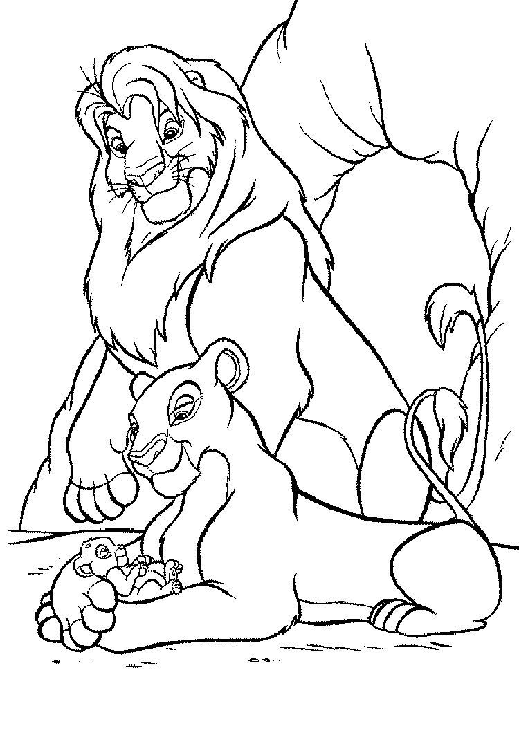 Lion King Christmas Coloring Pages Lion Coloring Pages Animal Coloring Pages Cartoon Coloring Pages