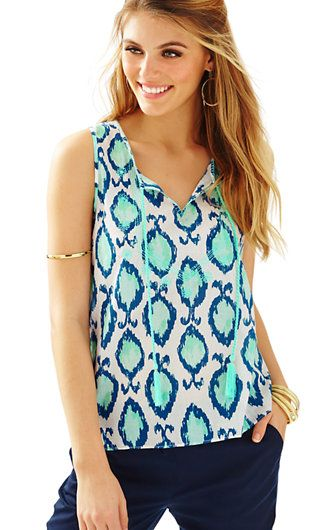 d748bfd8ecba21 Lilly Pulitzer Lauren Sleeveless Top | New Arrivals | Lily clothing ...