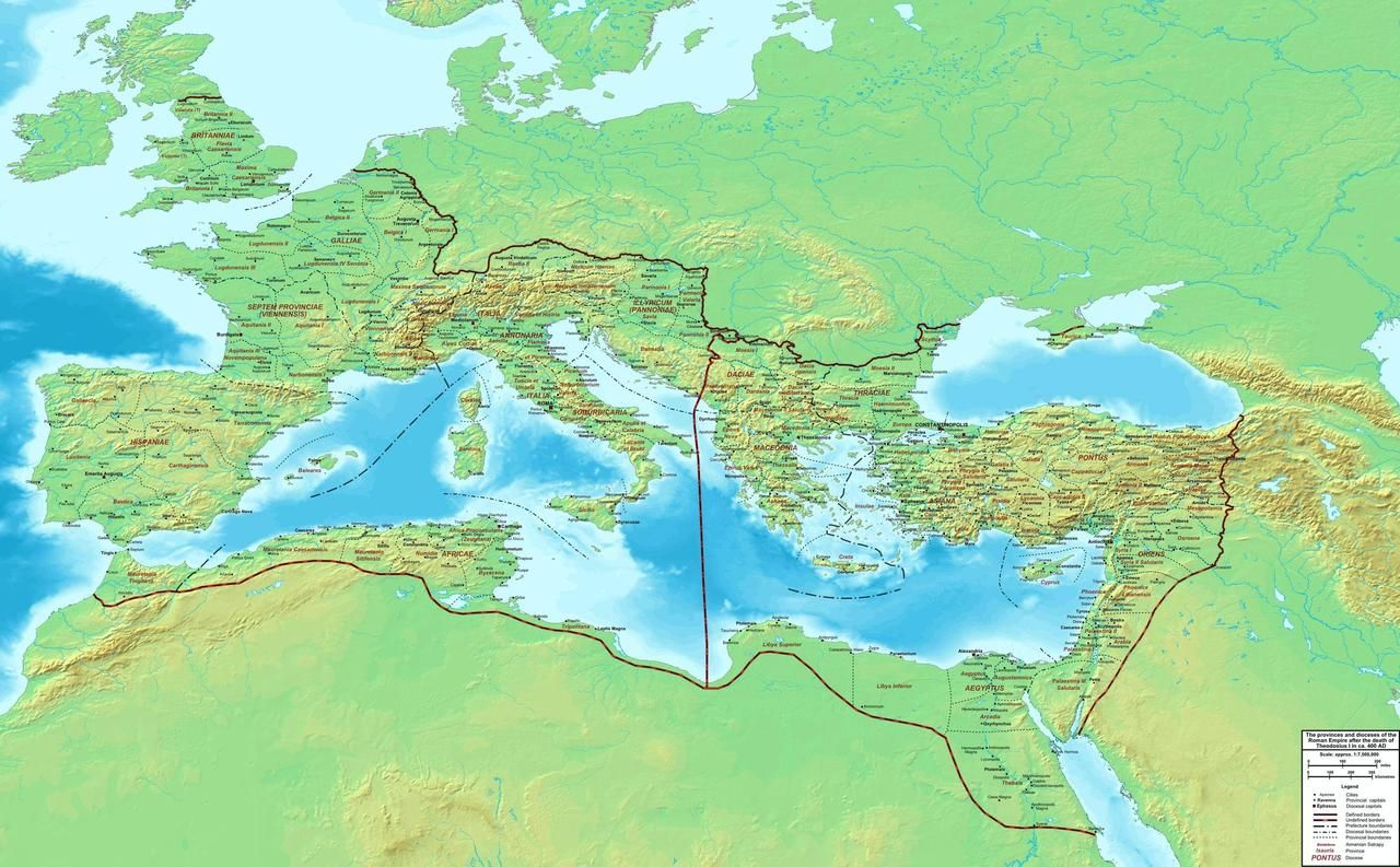 A Detailed View Of The Roman Empire In The Year 400 Ad