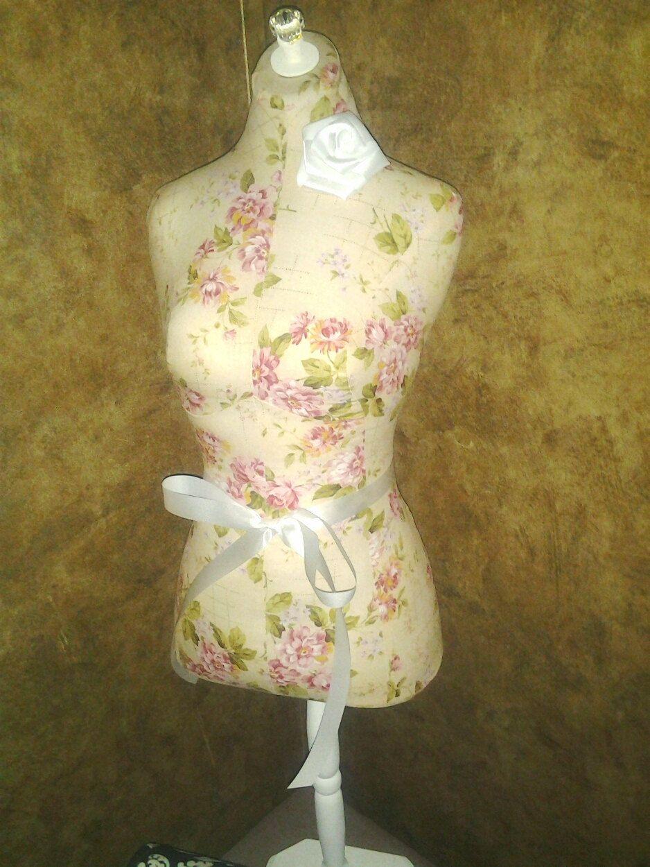 Boutique Dress Form 34 Craft Decorative Designs Cream Cottage Rose
