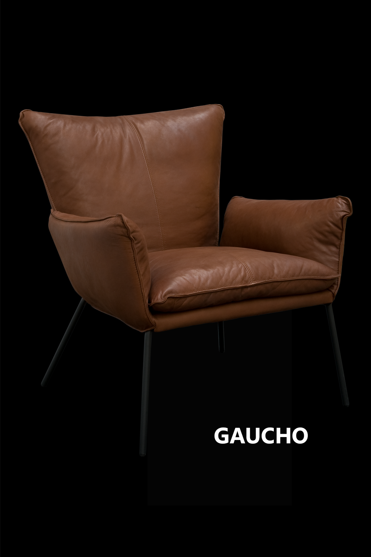 Fauteuil Leer Design.De Stoere Ambachtelijke Gaucho Fauteuil In Leder Gogain Bruciato