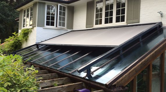 How Our External Roof Blinds Work Caribbean Blinds Conservatory Roof Exterior Blinds Conservatory Roof Blinds