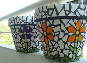Maceteros floreados | Cosas lindas de mosaico