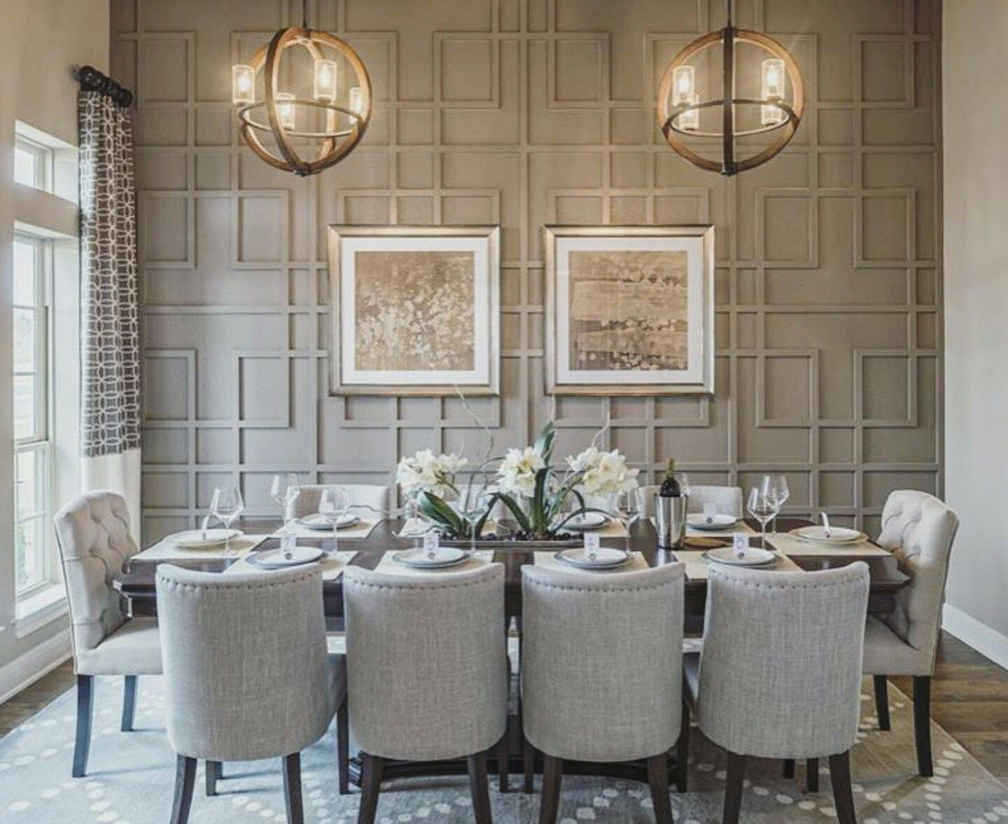 wallpaper accent wall dining room | simply dining room with a nice accent wall or wallpaper ...