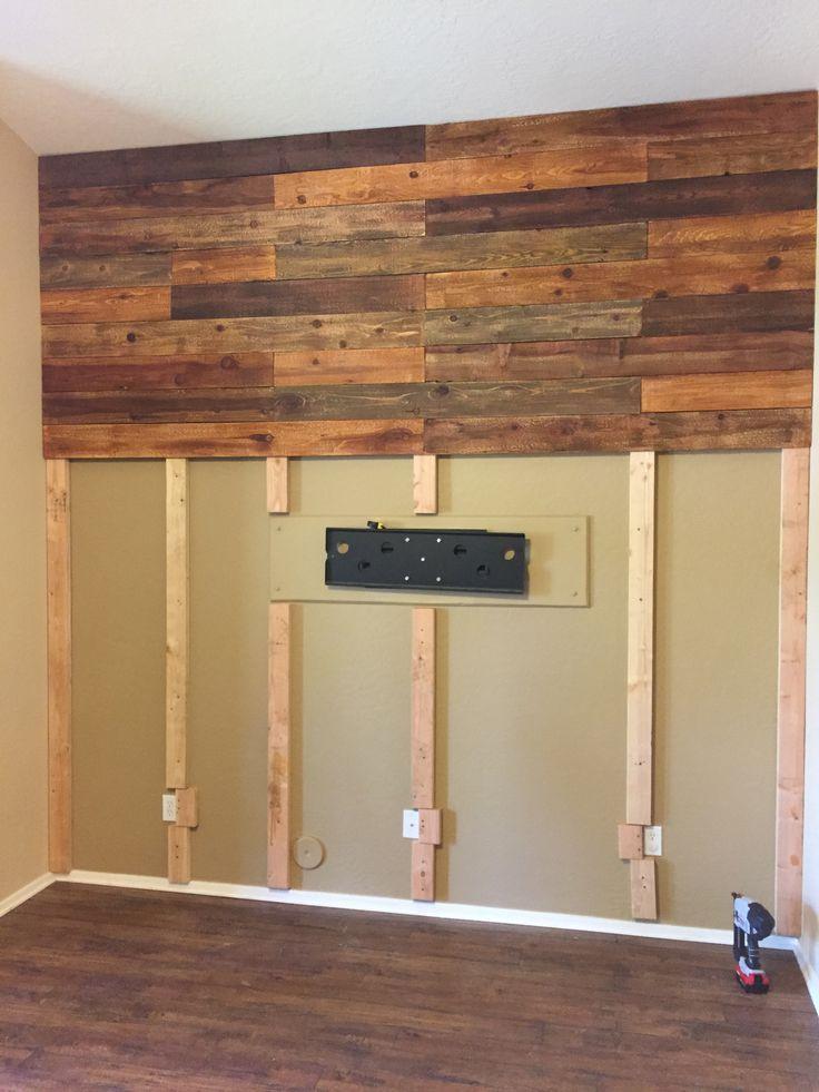 Wand Holzverkleidung Wandgestaltung Wohnzimmer Holz Holzverkleidung Rustikale Holzwande