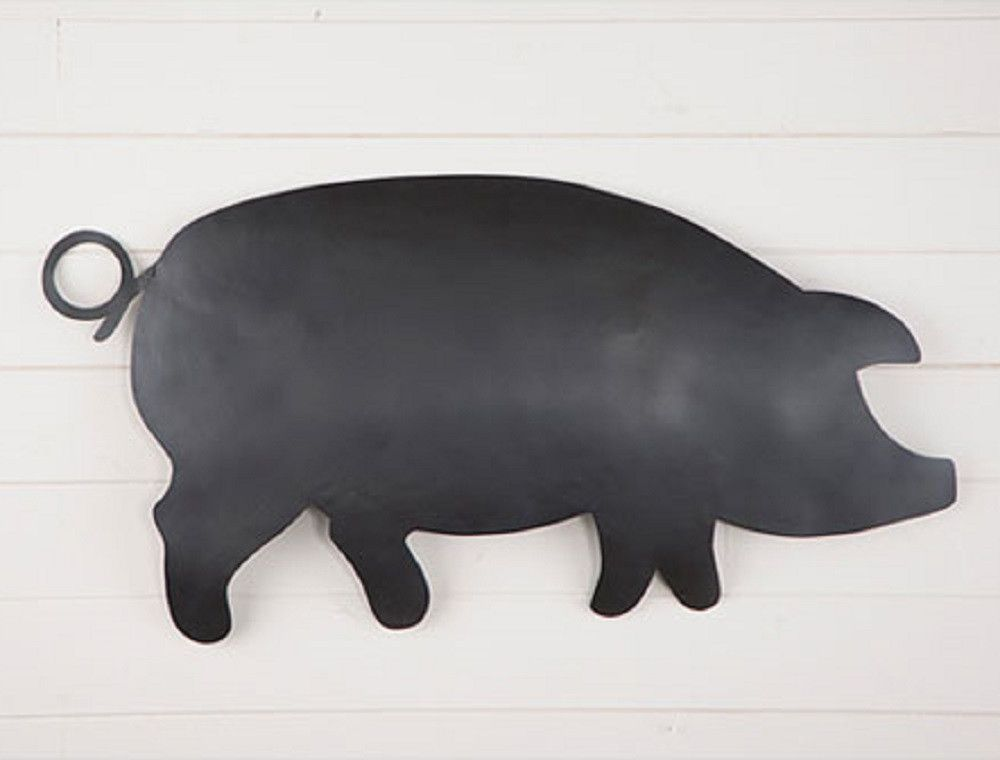 Metal Pig Wall Hanger In Smokey Black Finish Wall Hanger Metal Metal Wall Art