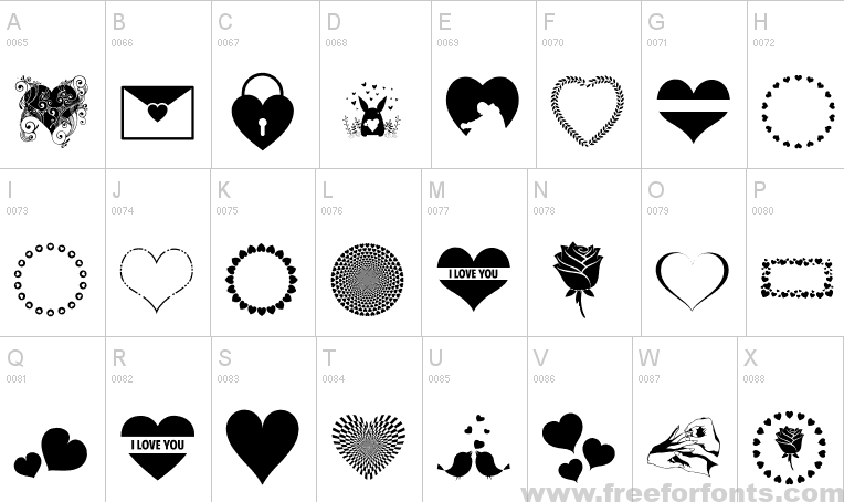 24++ Love fonts with hearts trends
