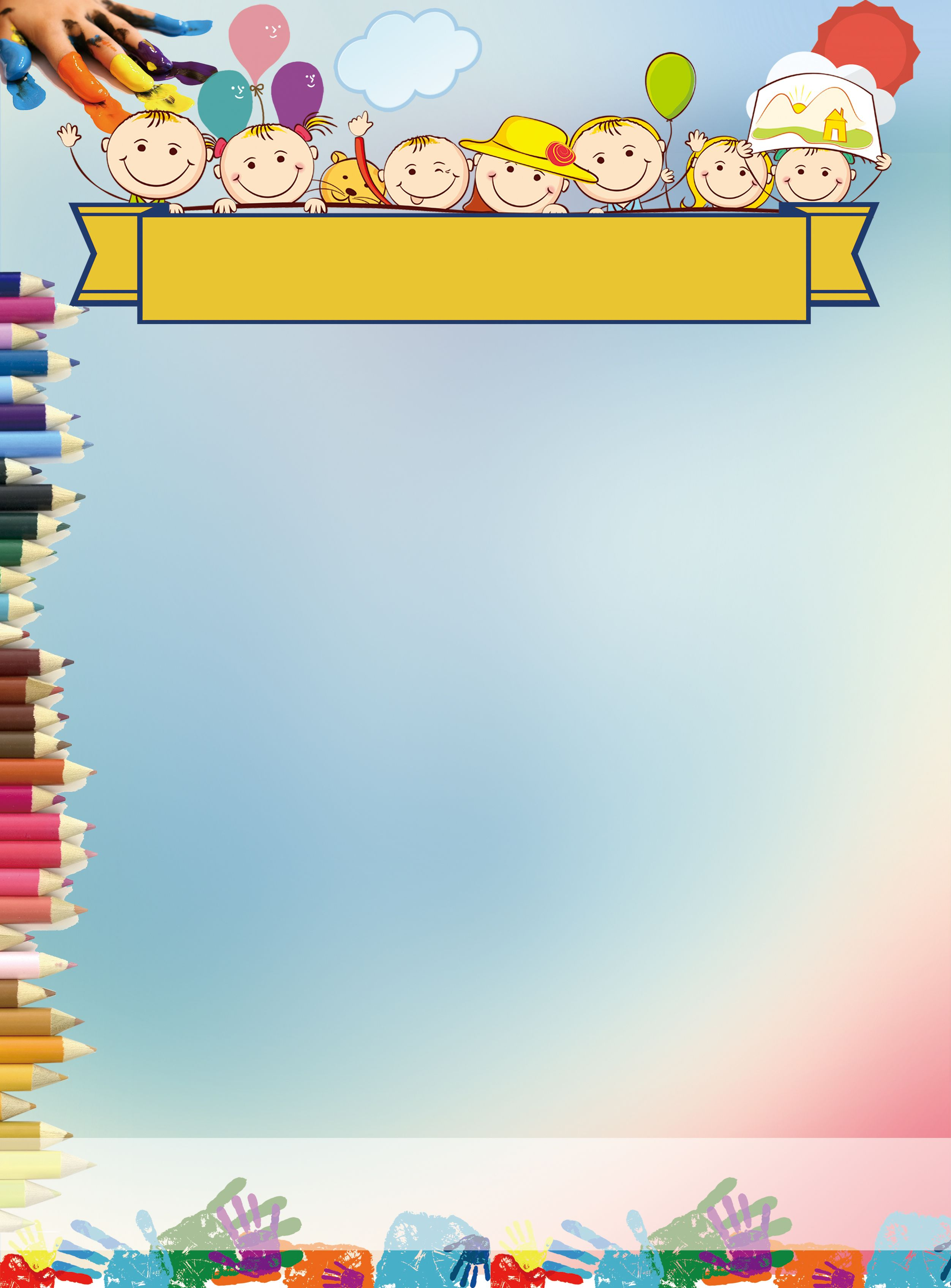 Cartoon Educational Display Background Material Kids Background