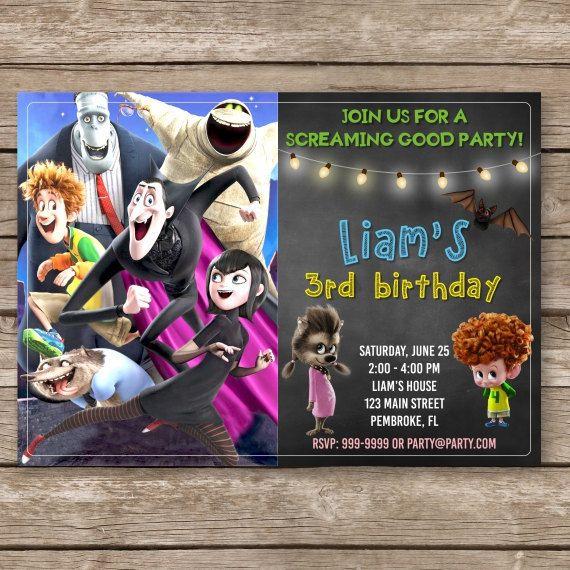 Hotel Transylvania Birthday Digital Invitation Halloween
