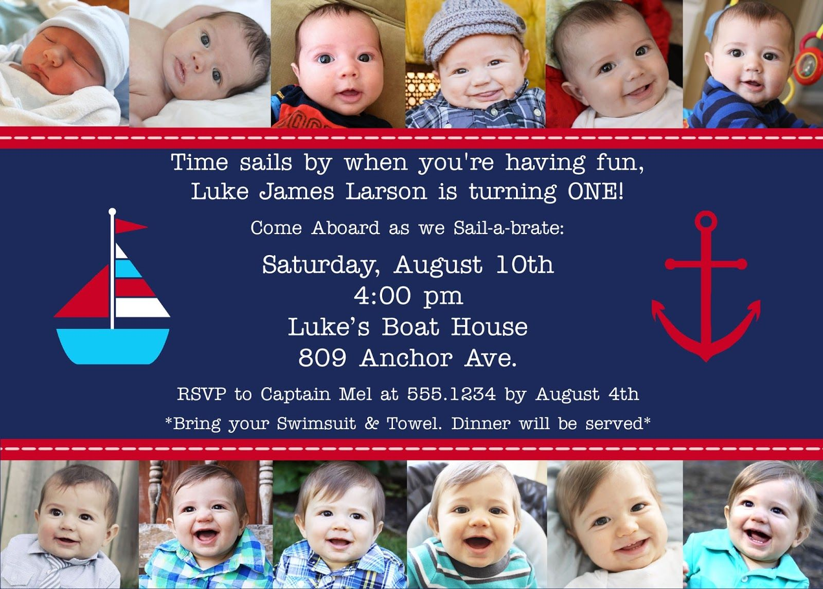 Anchor Birthday Party | The Larson Lingo: Luke\'s Nautical 1st ...