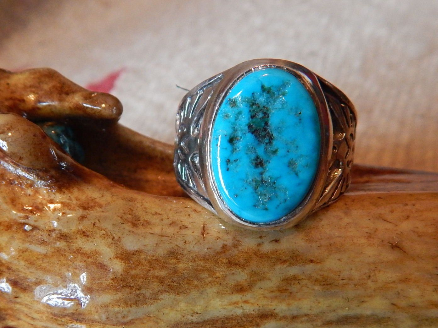 Turquoise ring size 11 Native American Jewelry turquoise jewelry