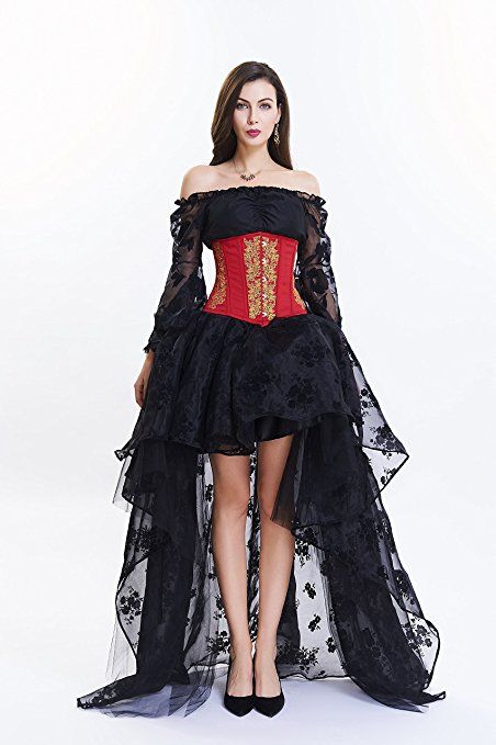 Damen Retro Vintage Gothic Steampunk Röcke titivate Halloween Party ...