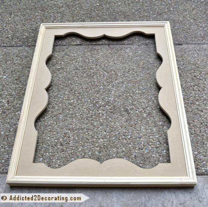 DIY Decorative Mirror With Scalloped Frame | The o\'jays, Decorative ...