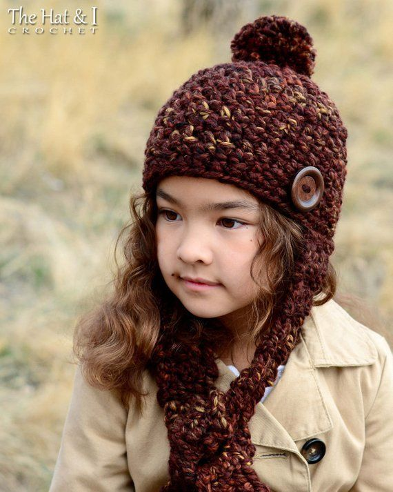 Crochet Hat PATTERN - Outdoor Adventures - crochet pattern super bulky fast  crochet hat (Toddler Chi 0677a91da