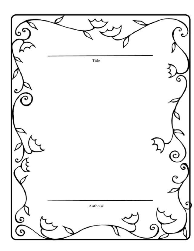 Book Template For Students Good Copy Of Their Stories Part A Fairy Tale Or Story Retelling Unit