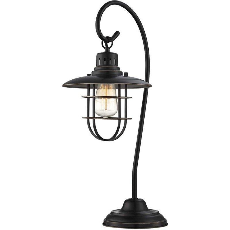 Lanterna Ii Dark Bronze Lantern Table Lamp Metal Table Lamps Lantern Table Lamp Industrial Style Table Lamp