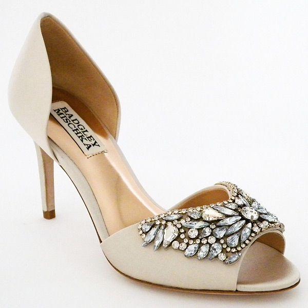 Badgley Mischka Candance Ivory Wedding Shoes A Glamorous Bridal Shoe With