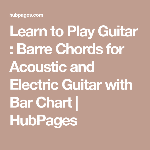 Learn to Play Guitar : Barre Chords for Acoustic and Electric Guitar ...