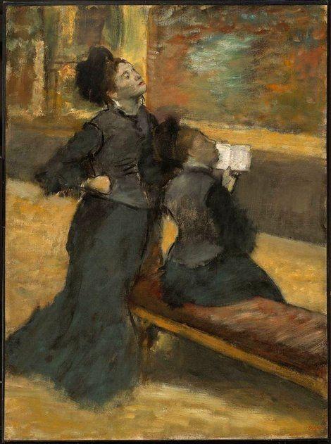 Edgar Degas, Visit to a Museum on ArtStack #edgar-degas #art
