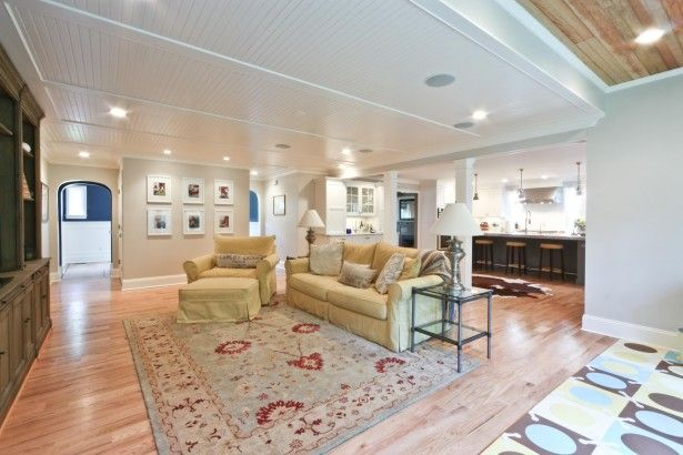 beadboard beam ceiling | Basement Ceiling Ideas for Remodeling Your Home: Beadboard Ceiling In ...