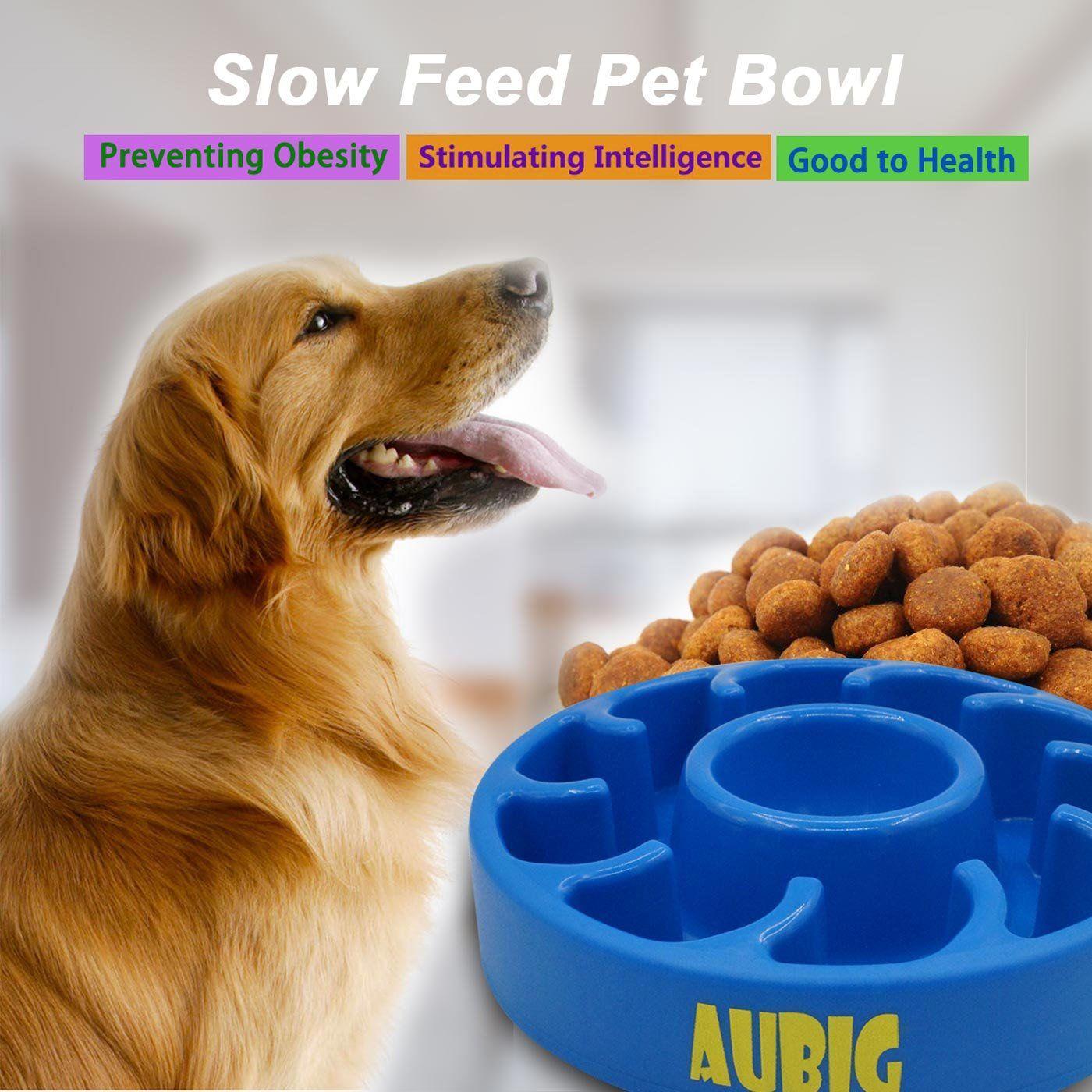 Aubig Slow Feeder Bowl Pet Fun Feeder Dog Bowl AntiChoke