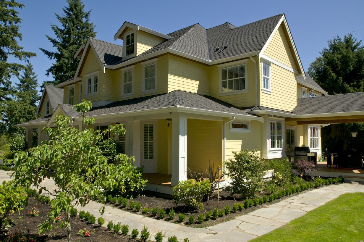 Fall Round Up The Best Exterior House Colours For 2013 Hawthorne Yellow Benjamin Moore And