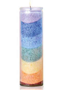 Chakra Kerze Sri Yantra Multicolor Eine Wundervolle Kerze Die