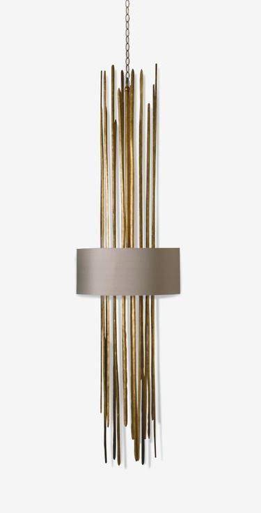 Porta romana mcl16 flynn caged stairwell lantern gold porta romana lamps - Lindsey adelman chandelier knock off ...