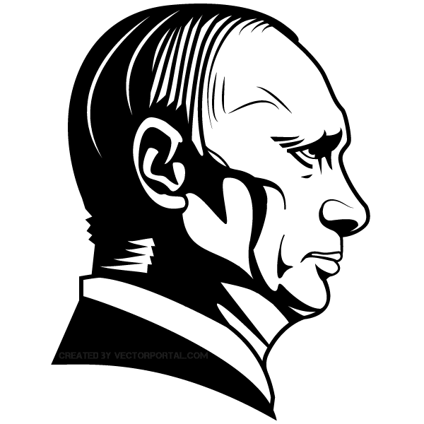 Vladimir Putin Vector Image Vector Illustration Vector Portrait Illustration